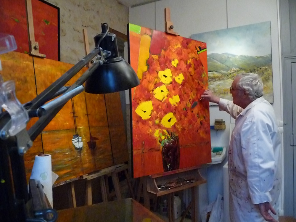 Atelier claude pacaud la cit de l 39 ecrit montmorillon - Peinture contemporaine au couteau ...