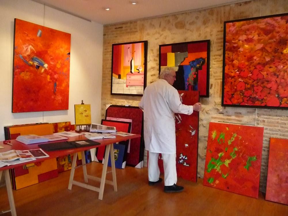 Atelier claude pacaud la cit de l 39 ecrit montmorillon - Peinture au couteau huile ...