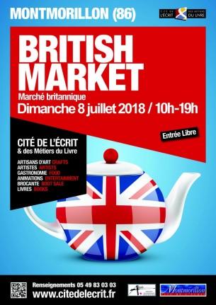 british market Affiche A3 2018
